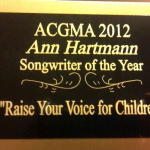 2012 Award Songwriter